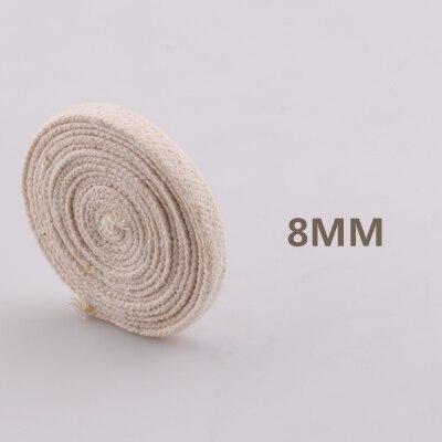 5yd/лот высокопрочный натуральный цвет 3ply круглый плоский канат хлопок шнуры для дома ручной работы аксессуары для одежды проекты рукоделия - Цвет: flat 8mm