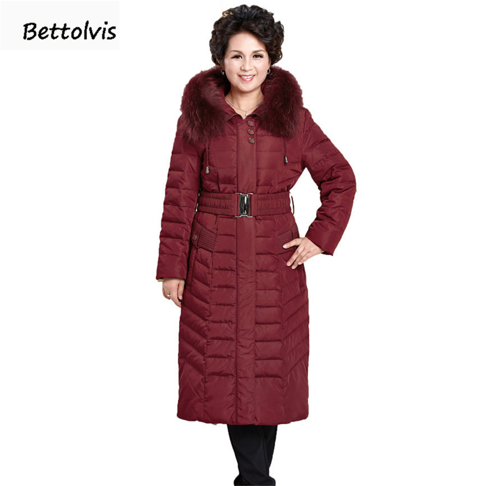 2017 New Winter Jacket Women real fur collar Hooded Down Coats Women Long Parkas Thickening 6XL Plus Size Down Jacket Women Coat winter jacket female parkas hooded fur collar long down cotton jacket thicken warm cotton padded women coat plus size 3xl k450