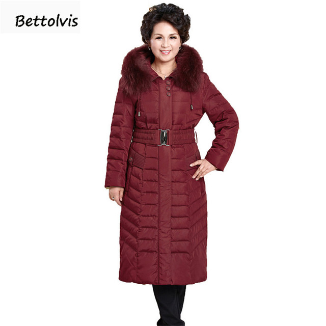 2018 New Winter Jacket Women real fur collar Hooded Down Coats Women Long Parkas Thickening 6XL Plus Size Down Jacket Women Coat