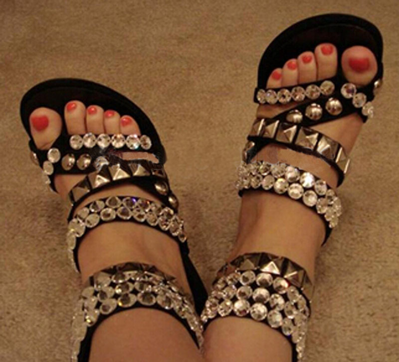83f7df90d hot selling open toe red carpet high heel sandals bling bling crystal ankle  strap gladiator sandals-in Women s Sandals from Shoes on Aliexpress.com ...