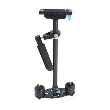 2017 Новый 60 см steadycam, S60T Портативный Углеродного Волокна Ручной Steadicam видео стабилизатор камеры для Цифоровой Зеркальный Фотоаппарат Canon Nikon Sony