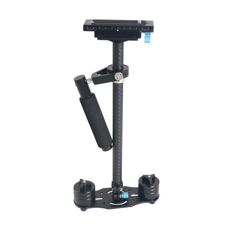 Prix pour 2017 Nouveau 60 cm steadycam, S60T Portable En Fiber De Carbone De Poche Steadicam caméra vidéo stabilisateur pour Canon Nikon SONY DSLR Camera