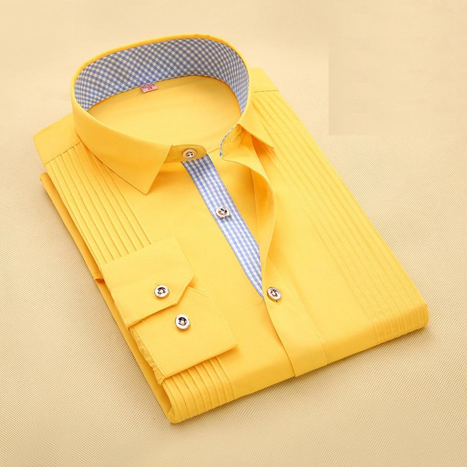Formal Texudos Designer Shirt for Men 65% Cotton Plus Size 4XL 5XL Stylish Texudos Fashion Summer Black White Blue Pink 2018