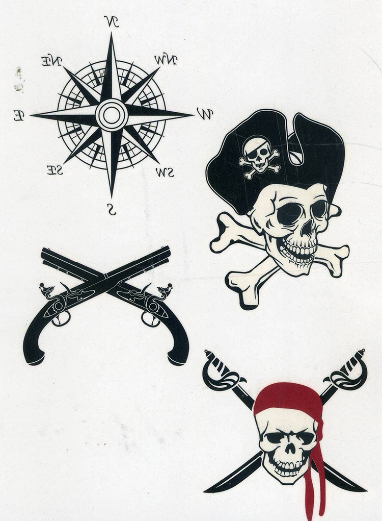 48d33c1019751 sex product Temporary tattoos large pirate skull flash tatoo Sticker  Waterproof Letters Gun Tattoo Party Makeup Tools-in Temporary Tattoos from  Beauty ...