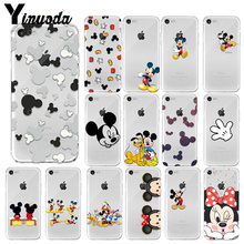 Yinuoda Mickey Mouse TPU Soft Silicone Phone Case Cover for Apple iPhone 8 7 6 6S Plus X XS MAX 5 5S SE XR Cover yinuoda animals dogs dachshund soft tpu phone case for apple iphone 8 7 6 6s plus x xs max 5 5s se xr mobile cover