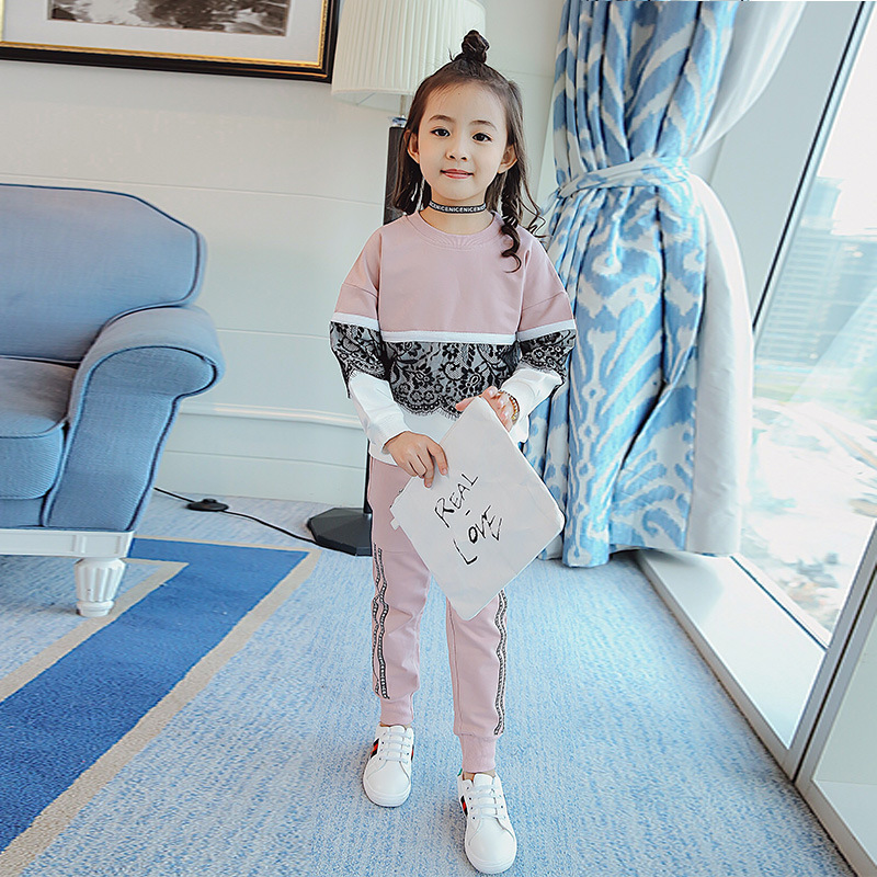 Girl Autumn Clothing Suit New Pattern Athletic Wear Girl Clothing Children Autumn Two Pieces Kids Clothing Sets children s garment girl new pattern clothing children spring autumn autumn two pieces kids clothing sets suit