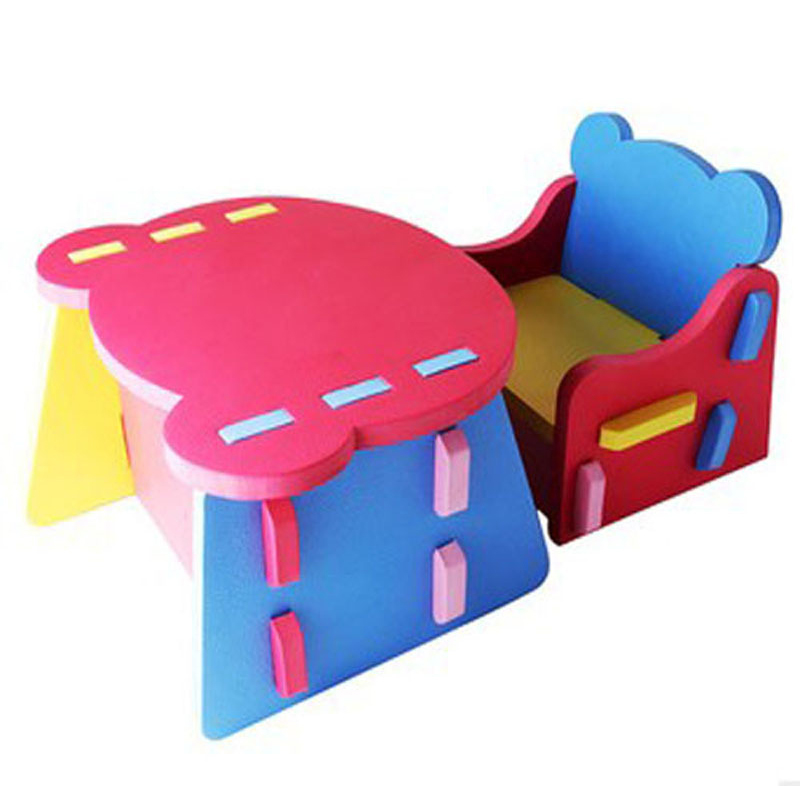 Baby Toys 1Pcs Soft Foam EVA Building Blocks DIY Chair Desk Baby Early Educational Classic Play Toys For Kids Gift baby gift imported wood color large blocks 1 2 3 6 years old early childhood educational toys