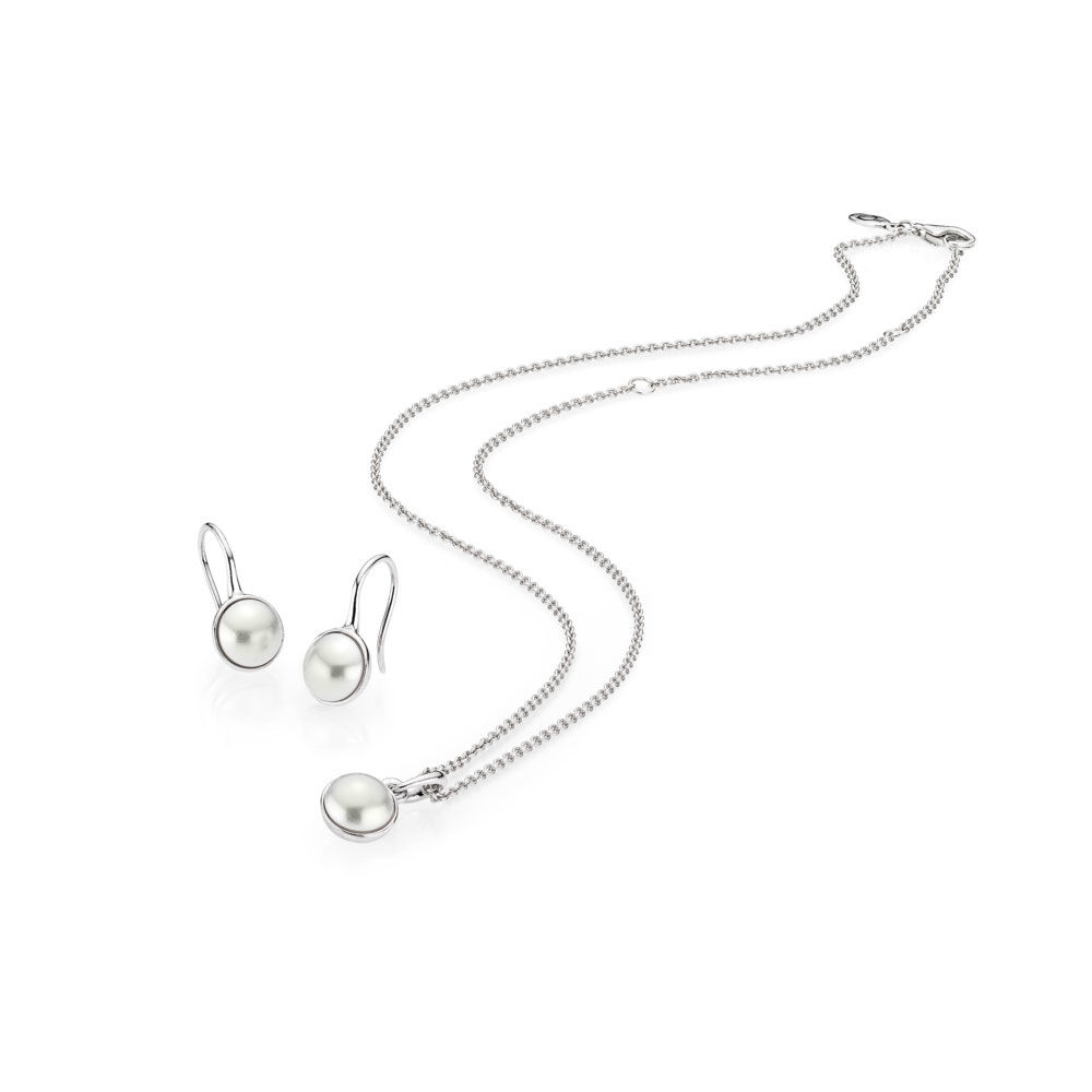 все цены на 100% 925 Sterling Silver LUMINOUS DROPLET NECKLACE AND EARRINGS SET [SPECIAL PRICE] Fit Original Jewelry A set of prices