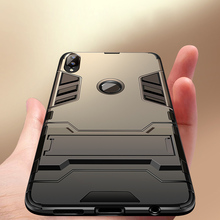 купить Luxury Armor Case For Xiaomi Redmi Note 5 7 Pro Hybrid TPU Silicone Hard PC Shockproof Cover For Redmi Note 4X 4 Stand Back Case дешево
