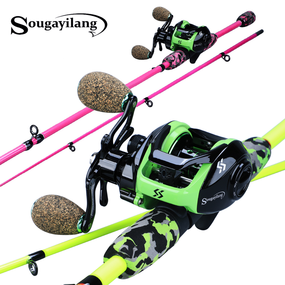 Sougayilang Super Light 185cm Casting Fishing Rod Lure Rod 2Section Ultralight Weight Fishing Rod Set Casting Fsihing Reels Set(China)
