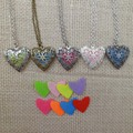 W1960 20PCS/lot sweet heart pendant essential oil diffuser aromatherapy locket necklace