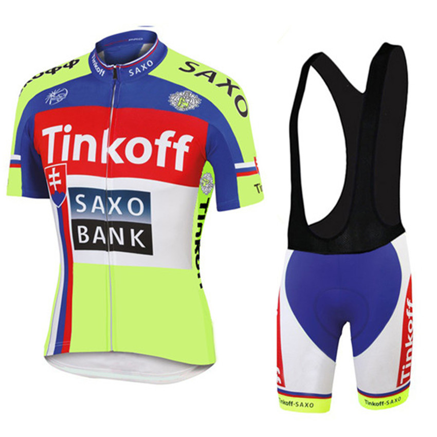 Tinkoff saxo cycling jersey summer style ropa ciclismo hombre short sleeve  saxo bank pro ciclismo breathable blue mtb bike team-in Cycling Jerseys  from ... d58f45865