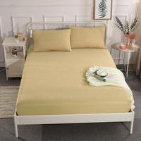Quality Fitted Sheet Mattress Cover Bedding Linens Bed Sheets with Elastic Band Double Queen Size High 30cm Bed Sheet