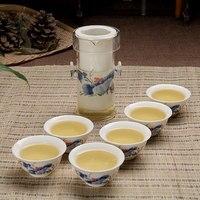 Ceramic Set Kung Fu Tea Set Gifts Blue And White Porcelain Black Teapos Teacups Set With Glass Tea Set Large Size 200ML