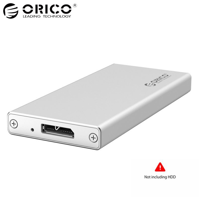 ORICO 1.8 inch HDD Enclosure hdd case mSATA to USB External SSD case 5Gbps Hard Disk Drive Box for 50mm mSATA SSD Supports UASP ugreen hdd enclosure sata to usb 3 0 hdd case tool free for 7 9 5mm 2 5 inch sata ssd up to 6tb hard disk box external hdd case