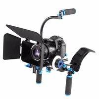 Наплечный Риг для ЦЗК камера Rig фильм пленка Комплект для обслуживания последующий Фокус Матовая коробка для Canon Nikon sony BMCC GH4 видеокамера