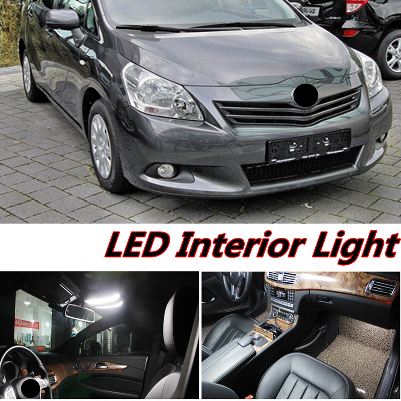 Tcart 6pcs X free shipping Error Free LED Interior Light Kit Package for toyota verso accessories 2009-2015