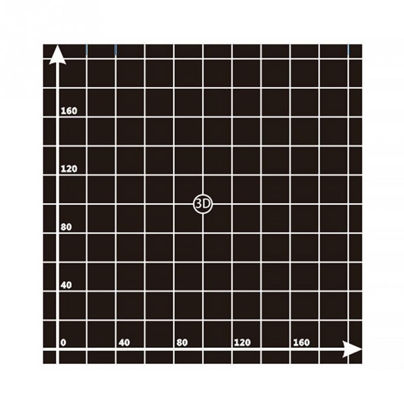 300* 300mm/220*220mm 3d Printer Heat Hot Bed Sticker Coordinate Printed Hot Bed Surface Sticker Part For 3D Printer Accessories