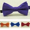 Nova Venda Quente Crianças Bow Tie Moda Tarja Prata Flash Dot Bowties para Meninos e Meninas Bonito Bowtie Crianças Borboleta gravata
