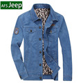 Men Denim Jacket Plus size 4XL bust 130cm Loose Brand AFS Jeep Fashion New 2016 Autumn Outwear Coats Vintage Trun down collar