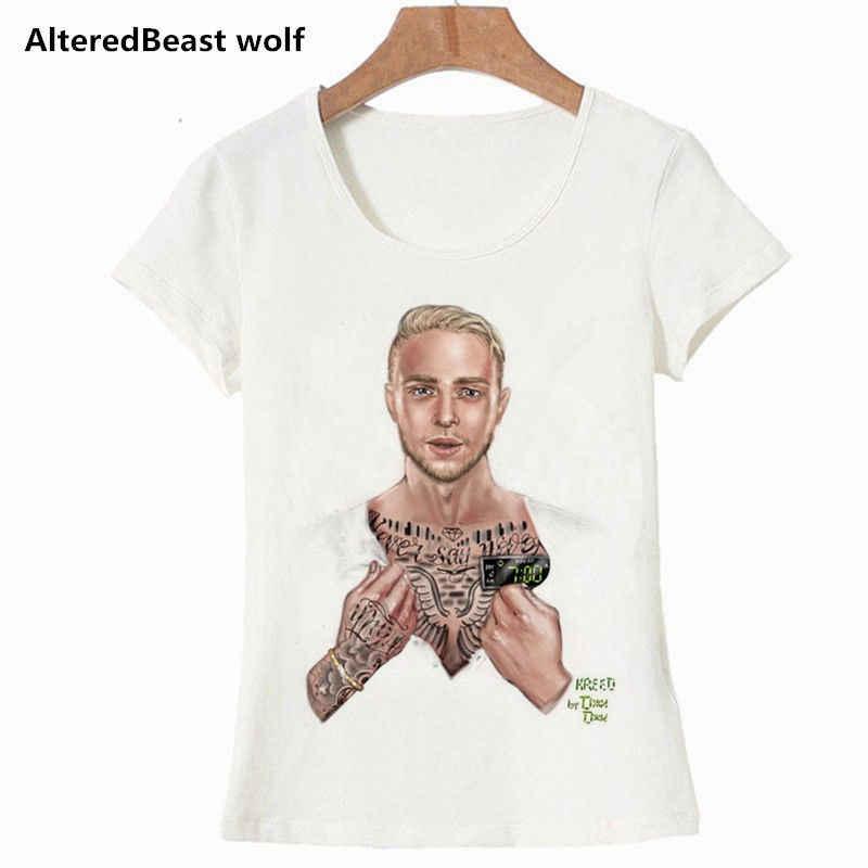 51862ced ... Fashion Summer T Shirt Women Tops Egor Krid Print White Funny T Shirts  Kawaii T-