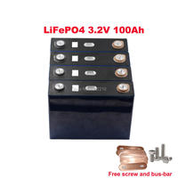 4PCS/lot LiFePO4 3.2V 100Ah 3C 300A Continuous Discharge For RV and Solar Energy Storage Battery Pack