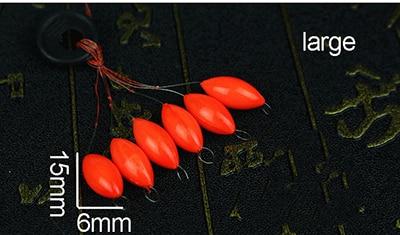 240pcs Fishing Float Seven Star Composite Material Olive Cut Tail Reservoir Pond
