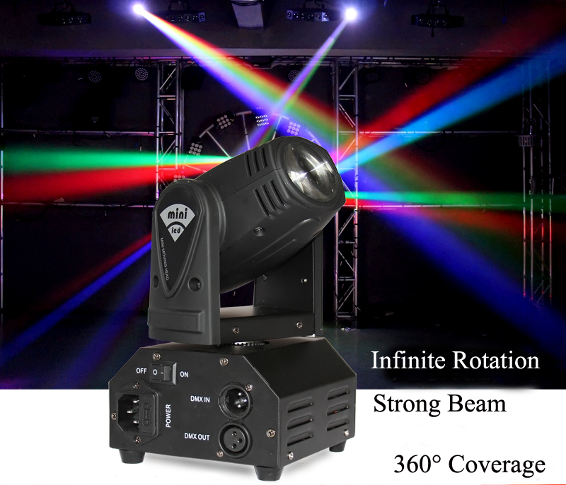 Mini Beam moving head Light RGBW Quad-in-1 Cree LED Compact Moving Head Stage Lighting for Disco DJ Party Bar KTV Salon Party  moving head spider lights cree led 8x10w rgbw moving head show light disco ktv dj club show bar led stage lighting
