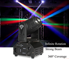 Mini Beam moving head Light RGBW Quad in 1 Cree LED Compact Moving Head Stage Lighting