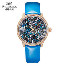 2016 OEM Watch Women Quartz Element Watch Luxury Colorful Women Watch Genuine Leather Water Proof Wristwatch HL590