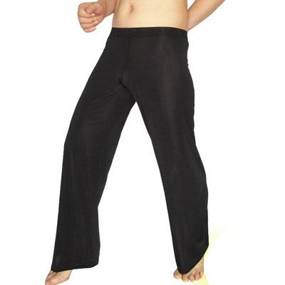 Hombres ropa interior de seda de Hielo Cómodo Pura Suelta calzoncillos largos Pantalones Leggings Pantalones Sexy de Seda Bolsa de la ropa interior ultra-delgado pantalones
