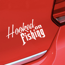 цена на Hooked on Fishing Bait Box Motorcycle SUVs Bumper Car Window Laptop Car Stylings Vinyl Decals