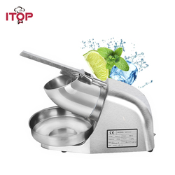 Itop Stainless Steel Ice Crushers Machine bar cocktail Shavers Electric Smoothie Ice Cream Maker