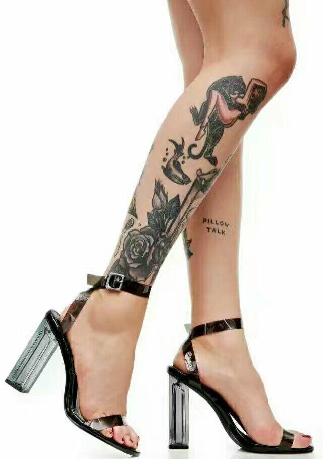 ФОТО LTTL Women Sandals beautiful PeepToe Crystal High Heel Transparent PVC Women Sandals Trend Clear High Heel Shoes