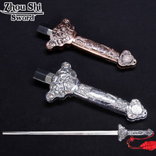 Cheaper Tai chi Telescopic sword Stainless steel longquan Kung Fu Martial Arts Training No edge sword