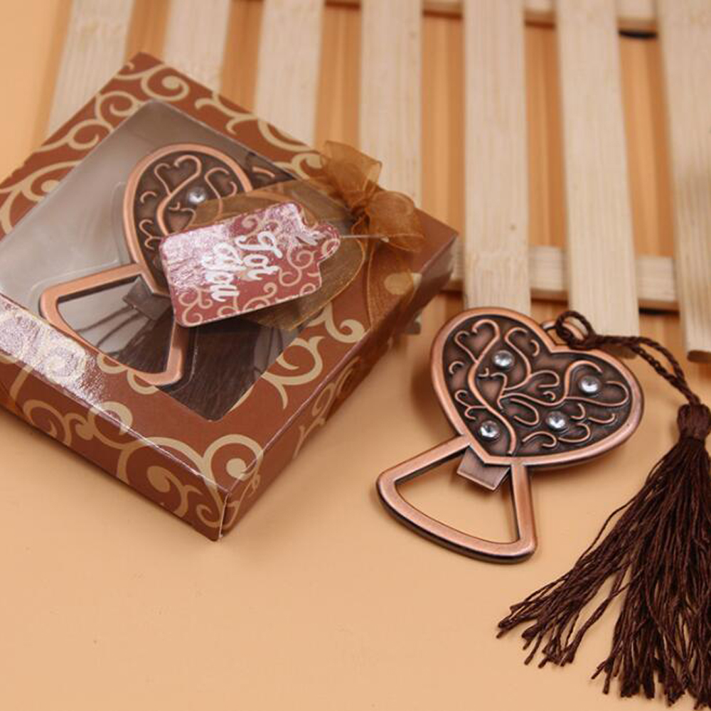 20 pieces lot Leiso Brand Vintage Exquisite Alloy Peach Heart Bottle Opener Valentine s Day