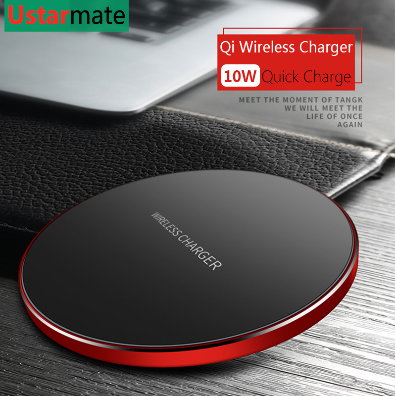 10W Quick Wireless Charging For Samsung S8 S9 S10 Plus Fast Charging Qi Charger For IPhone X Xs XR Max Wireless Adapter Chargers(China)