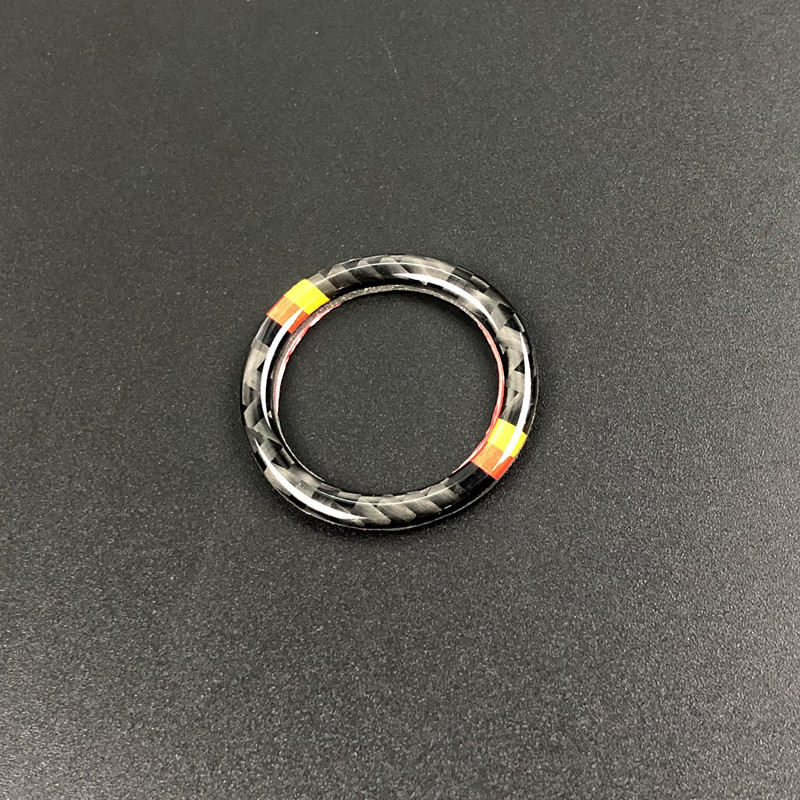 Car Engine Start Button Ignition Key Ring Sticker Carbon Fiber Interior Accessories for Mercedes-Benz C E Class W205 W213 GLC