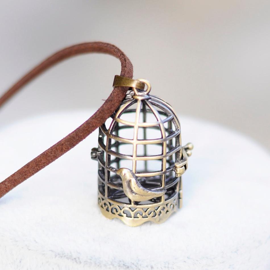 Fashion jewelry statement necklaces & pendants vintage Birdcage pendant Women Choker Necklace Long necklace for women collares