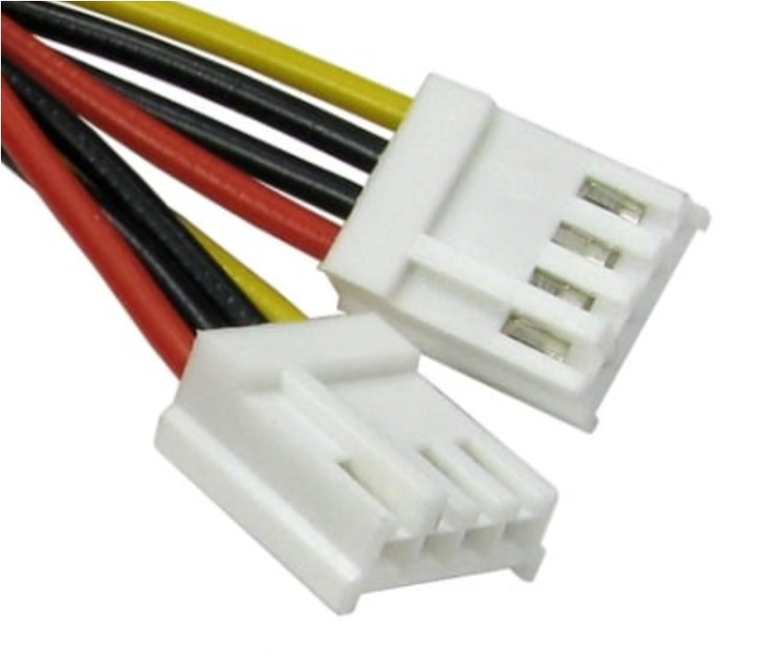 <font><b>2</b></font> pcs <font><b>4</b></font> <font><b>Pin</b></font> to <font><b>4</b></font> <font><b>Pin</b></font> Female Extension Cable 200 mm Length FDD Floppy Adapter Hard Drive Power Cables Cord receptacle cable image