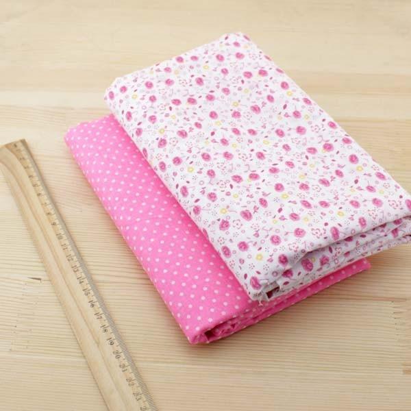 Booksew 7 pcs 50 cm x 50 cm Pink katun kuartal lemak tilda boneka - Seni, kerajinan dan menjahit - Foto 6