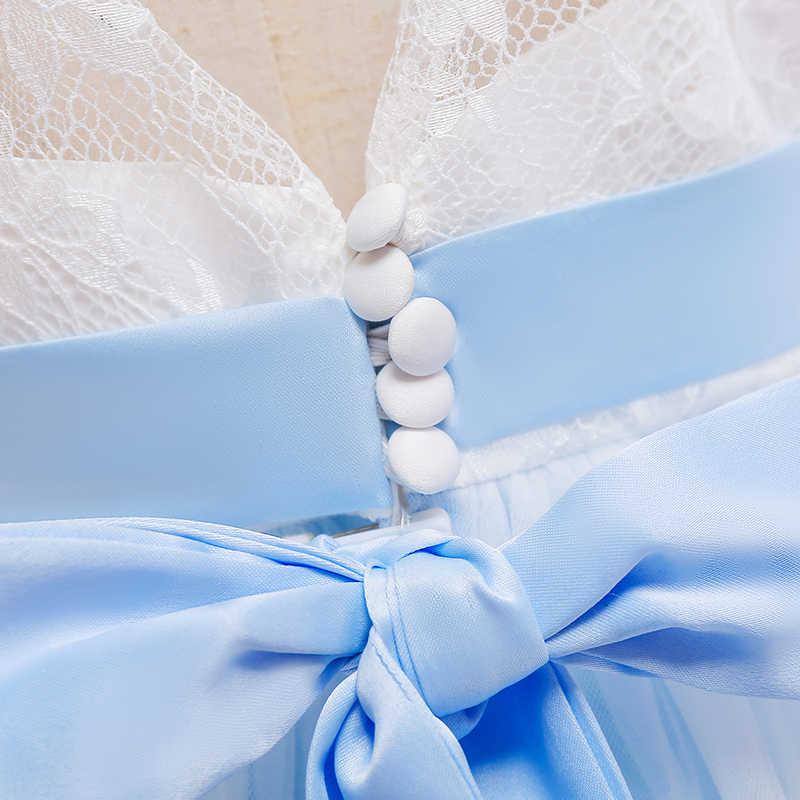 Розничная продажа; коллекция 2019 года; кружевное платье с цветочным узором для девочек; детское длинное бальное платье для девочек; платье для первого причастия; свадебные платья; LP-203