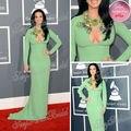 Oscar vestido vermelho Katy Perry Jewel bainha Chiffon celebridade vestidos