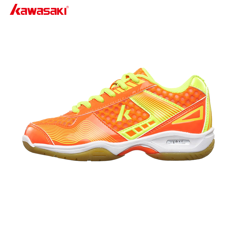 Original  Kawasaki Brand Badminton Shoes for Kids Jogging Anti-Slippery Breathable Outdoor Child Sport Shoes Sneakers Kc-12 13