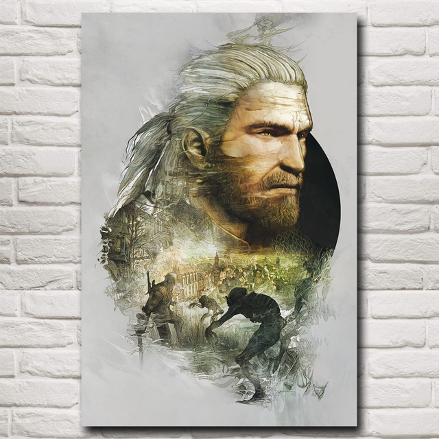 The Witcher 3: Wild Hunt Geralt of Rivia Game Art Silk Poster Home Decor Printing 12×18 16X24 20×30 24×36 Inches Free Shipping
