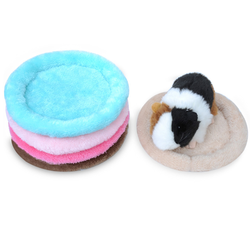 Warm Cotton Round Small Animal Sleep Mat Pad Bed Cushion Nest For Hamster Hedgehog Squirrel Mice Rats Cage Pet Supplies