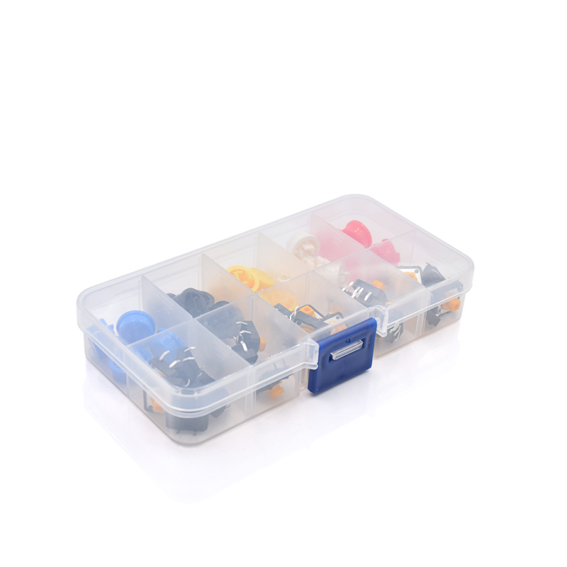 25PCS Tactile Push Button Switch Momentary 12*12*7.3MM Micro Switch Button + 25PCS Tact Cap(5 Colors) For Arduino