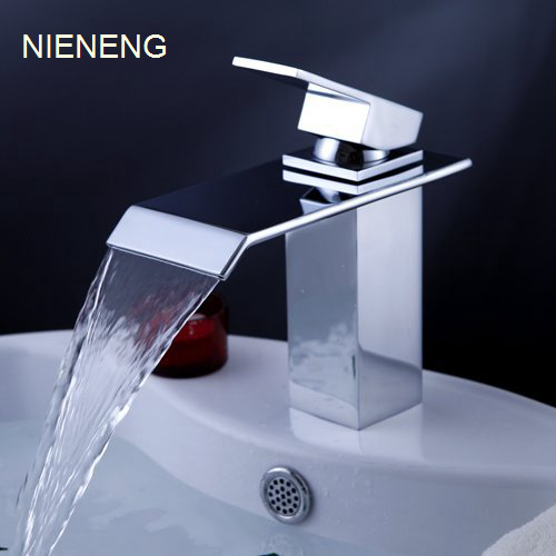 NIENENG waterfall sink tap water bathroom faucet taps art Bathtub faucet taps mixers banheiro bath sink faucet mixer ICD60180 nieneng big discount basin washroom mixer bathroom faucet tap mixers wc sanitary ware water toilet taps polished chrome icd60157