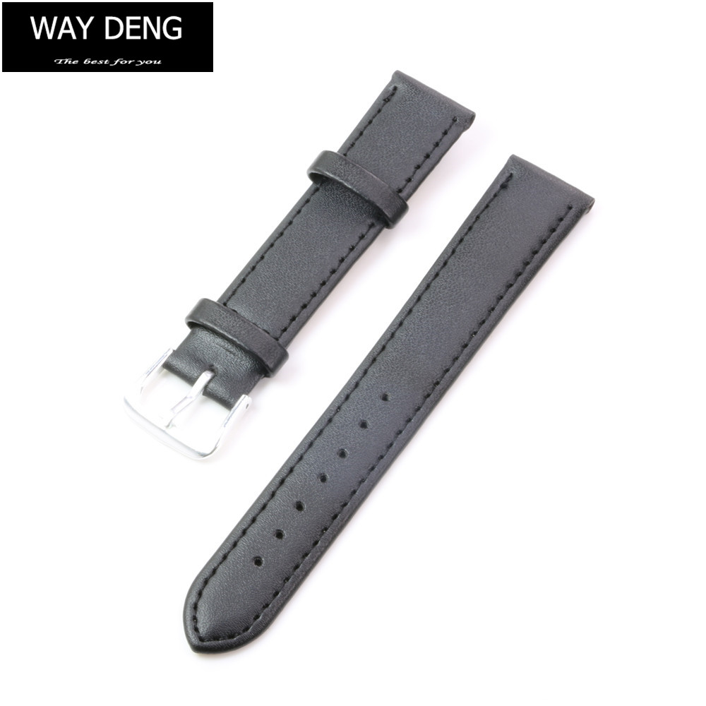 Way Deng - Women Men Generic Vintage Soft Plain Black PU Leather Wrist Watch Band Two-piece Strap Watchbands Accessories - Y031 электросамокат volteco generic two s2