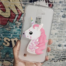 US $1.63 18% OFF|Luxury TPU Girls Case Coque for LG Stylo 2 LS775 / Stylus 2 Plus / Stylus 2 K520 Unicorn Cover Dynamic Quicksand Phone Cases-in Rhinestone Cases from Cellphones & Telecommunications on Aliexpress.com | Alibaba Group